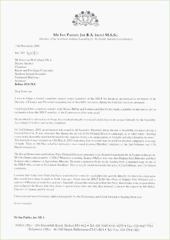Letter In Mla format Elegant Mla Business Letter format Example – thepizzashop