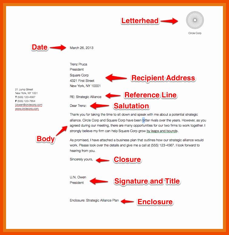 Letter In Mla format Inspirational 4 5 format Of Letter