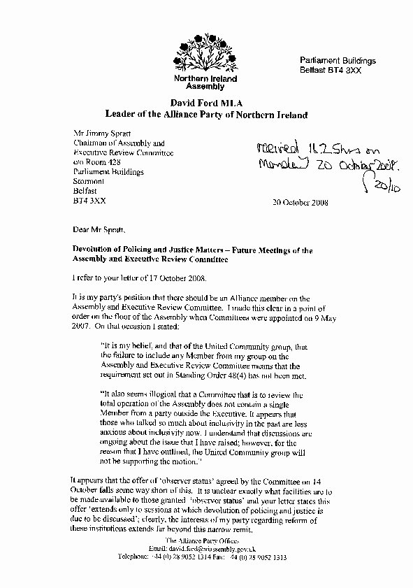 Letter In Mla format Luxury Wel E to the northern Ireland assembly