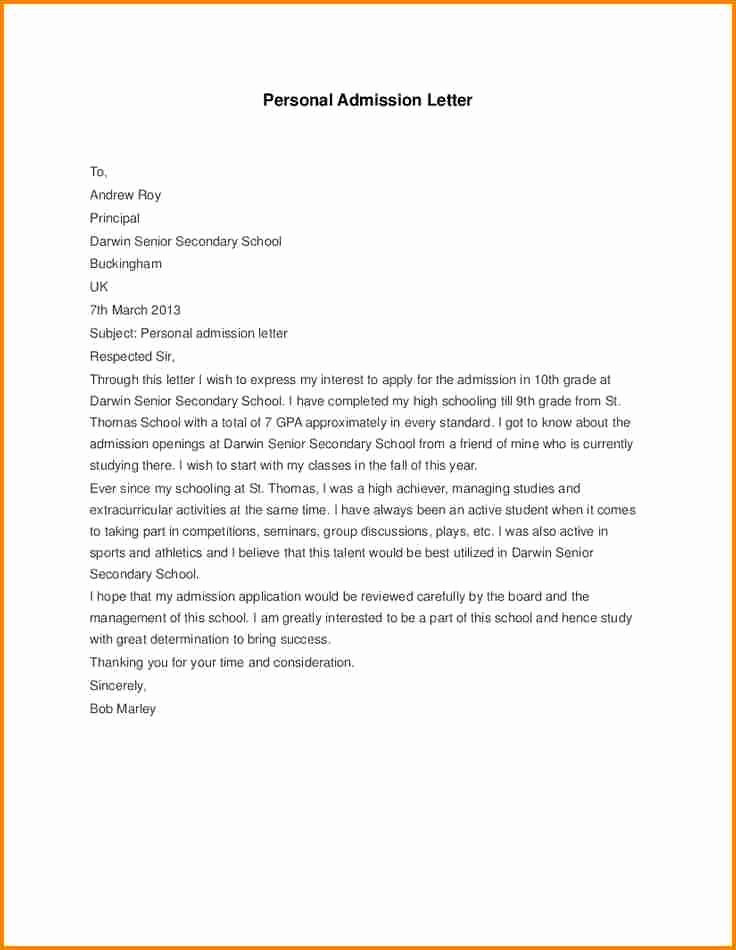 Letter Of Appeal format Beautiful 5 Appeal Letter for School Admission Sample