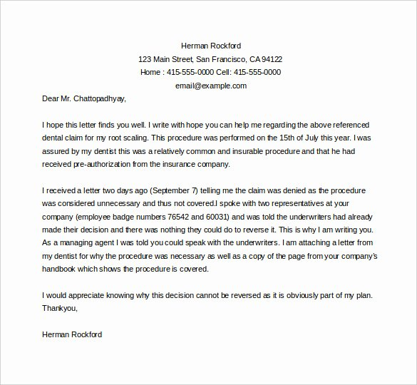 Letter Of Appeal format Luxury 17 Appeal Letter Templates Free Sample Example format