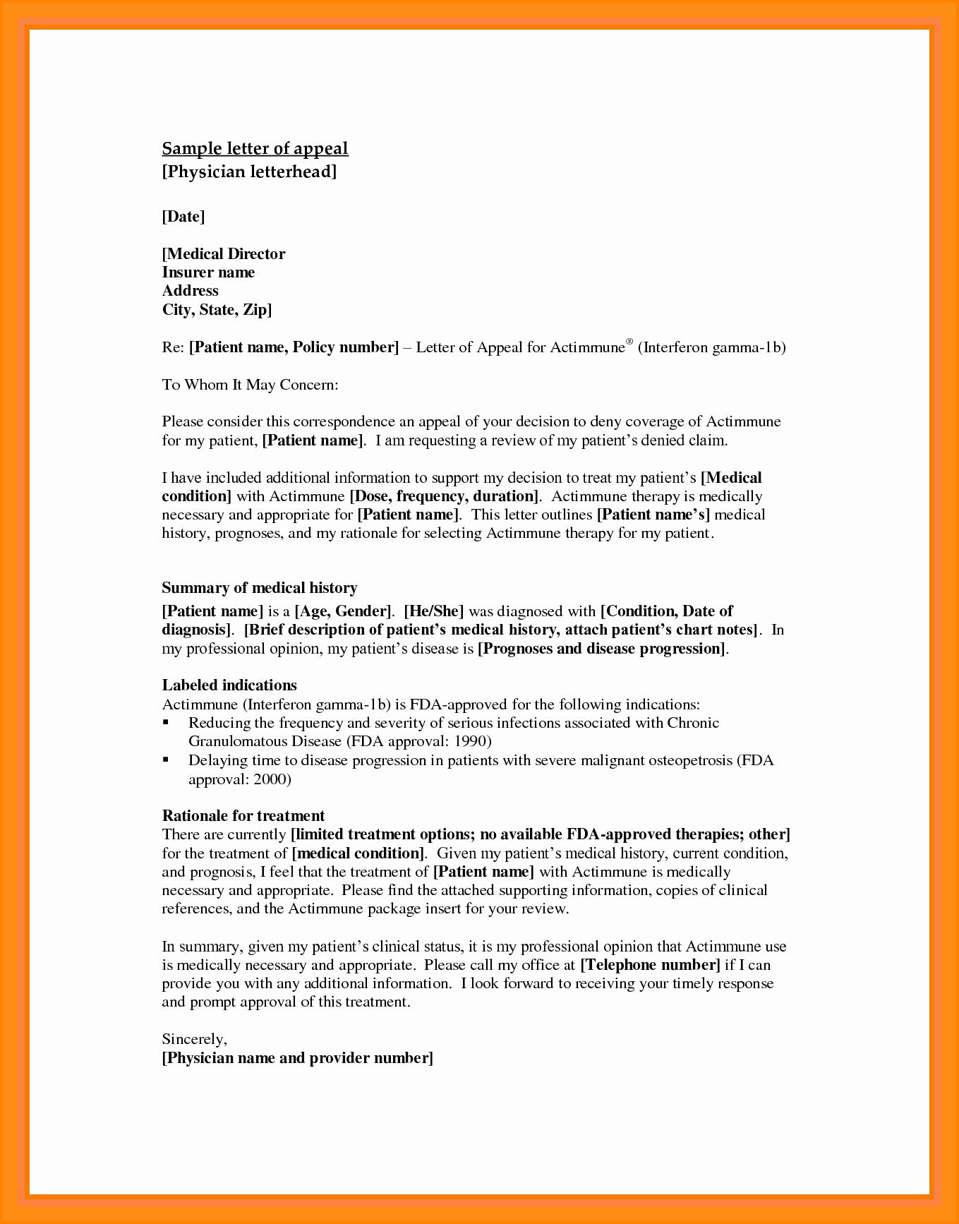 Letter Of Appeal format New 10 Appeals Letter Sample
