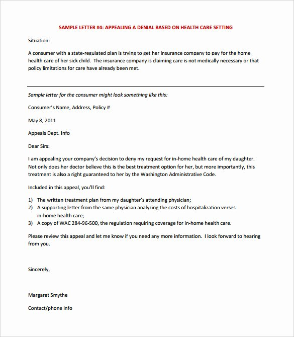 Letter Of Appeal format New 17 Appeal Letter Templates Free Sample Example format