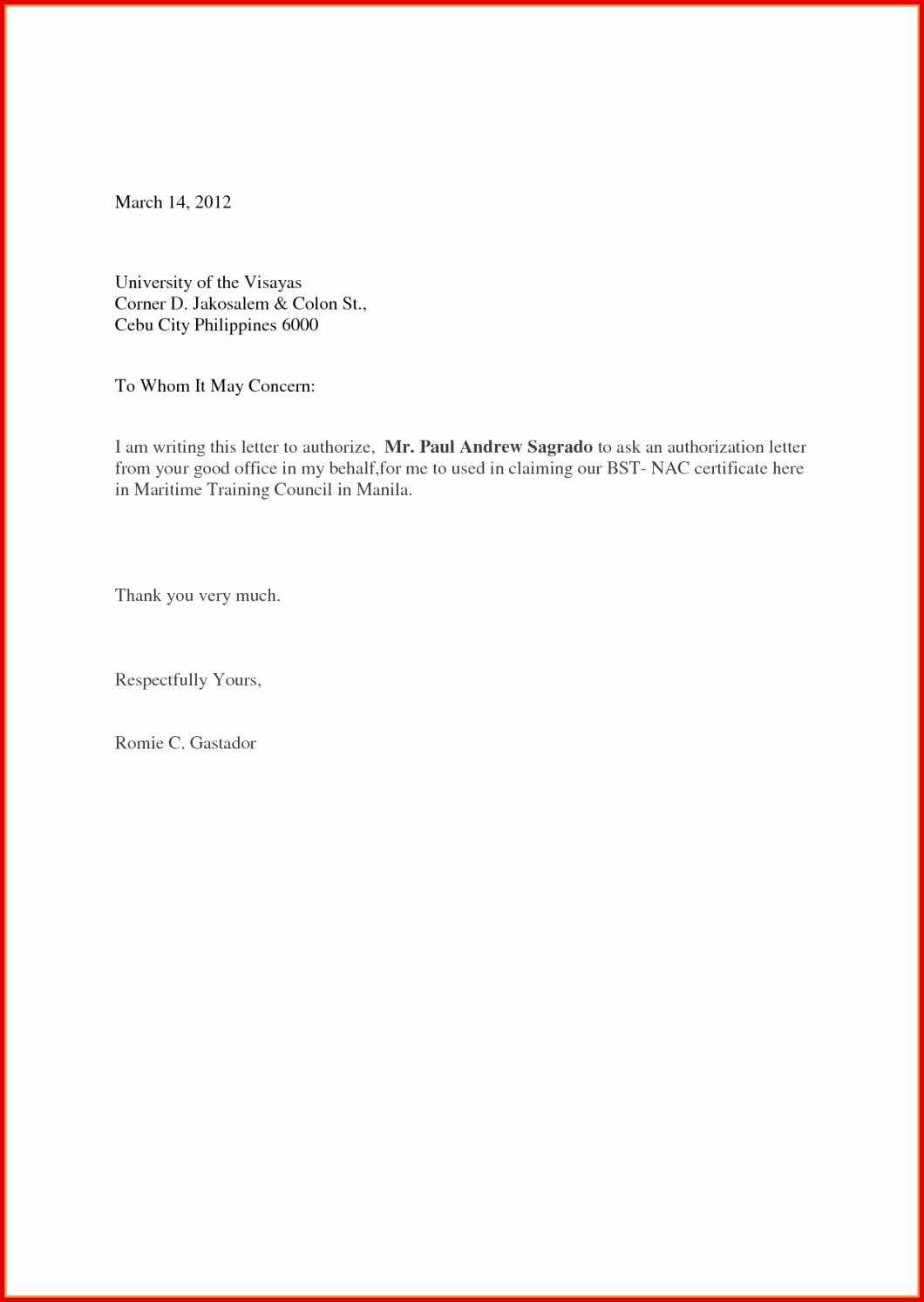 Letter Of Contribution for Loan Modification Inspirational Sample Authorization Authorisation Letter format for