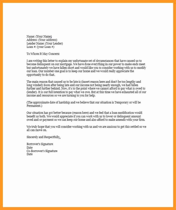 Letter Of Explanation Word Template Awesome Letter Of Explanation Word Template