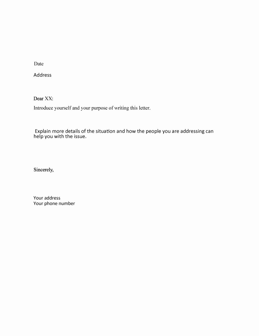 Letter Of Explanation Word Template Elegant 35 formal Business Letter format Templates & Examples