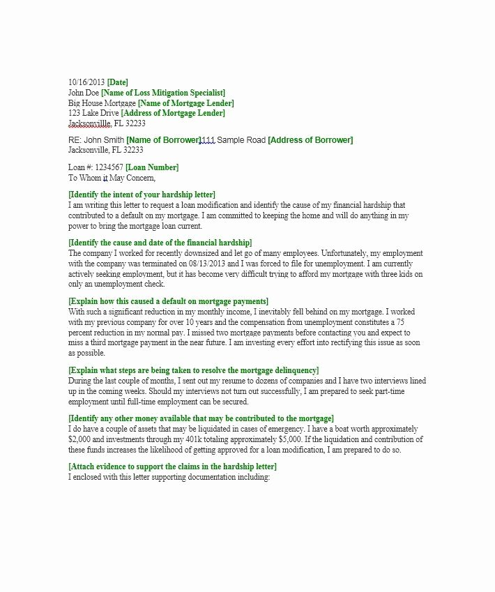 Letter Of Explanation Word Template New Hardship Letter Template 18 Sherwrght Aol