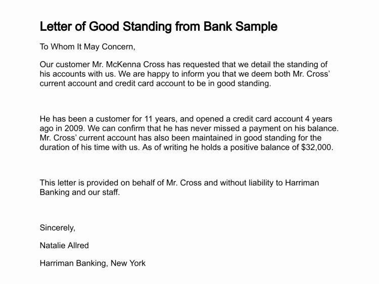 Letter Of Good Standing Sample Luxury Letter Of Good Standing