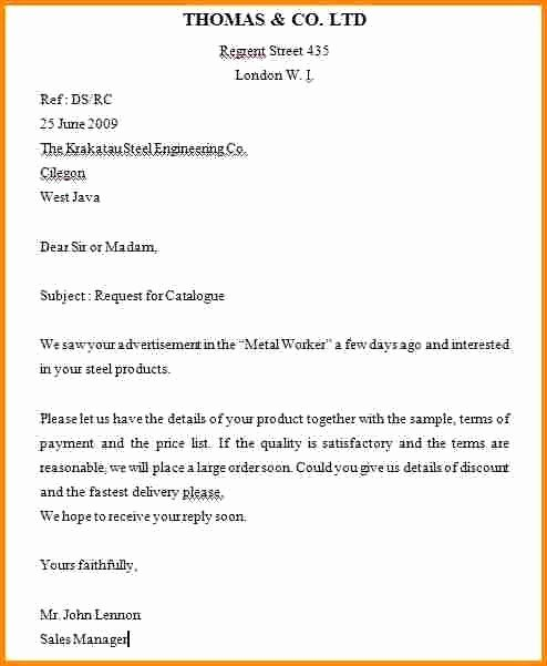 Letter Of Inquiry format Inspirational format Letter Inquiry