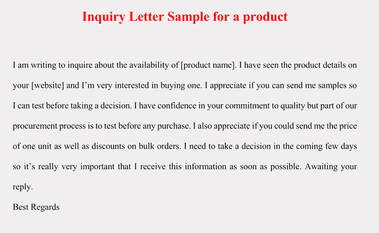 Letter Of Inquiry format Unique How to format An Inquiry Letter for Product Service 5