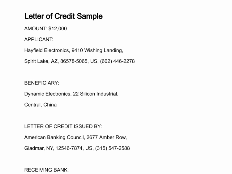 Letter Of Instruction Template Bank Best Of Letter Of Credit