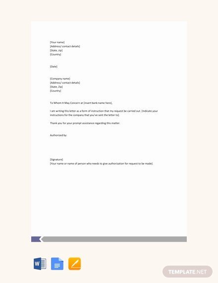 Letter Of Instruction Template Bank Elegant Free Salary Transfer Letter to Bank Template Download