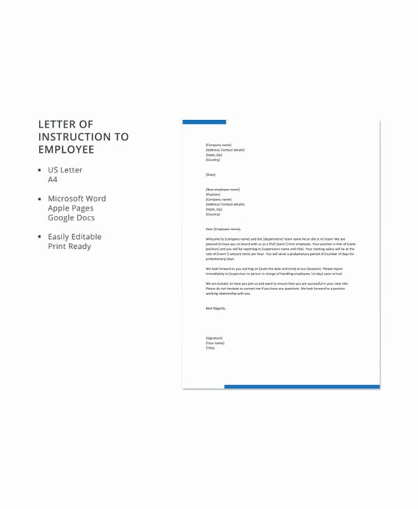 Letter Of Instruction Template Bank Fresh 13 Sample Letter Of Instruction Templates Pdf Doc