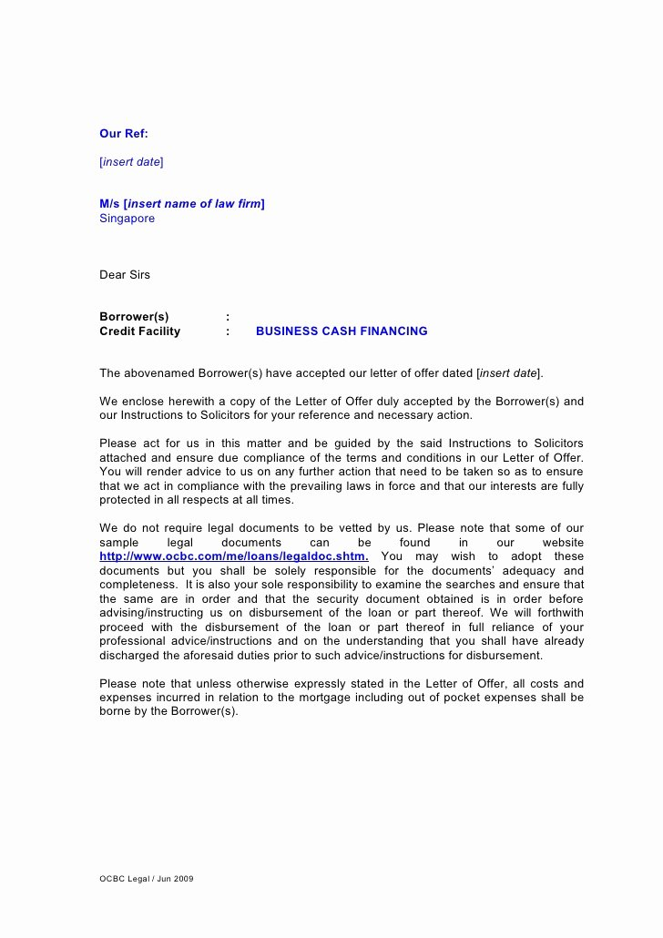 Letter Of Instruction Template Bank Unique Letter Of Instruction for Business Cash Financing