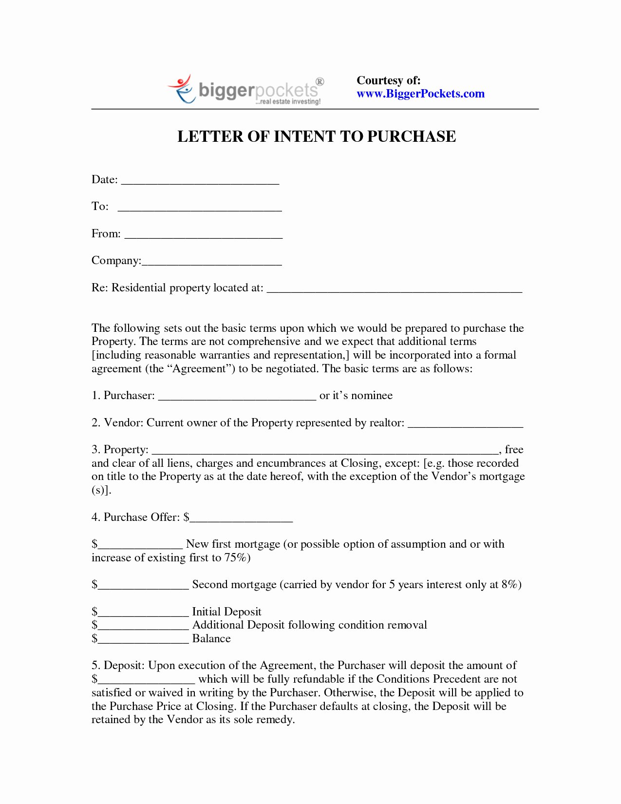 Letter Of Intent to Purchase Real Estate Template Best Of Letter Intent to Purchase Land Template Samples