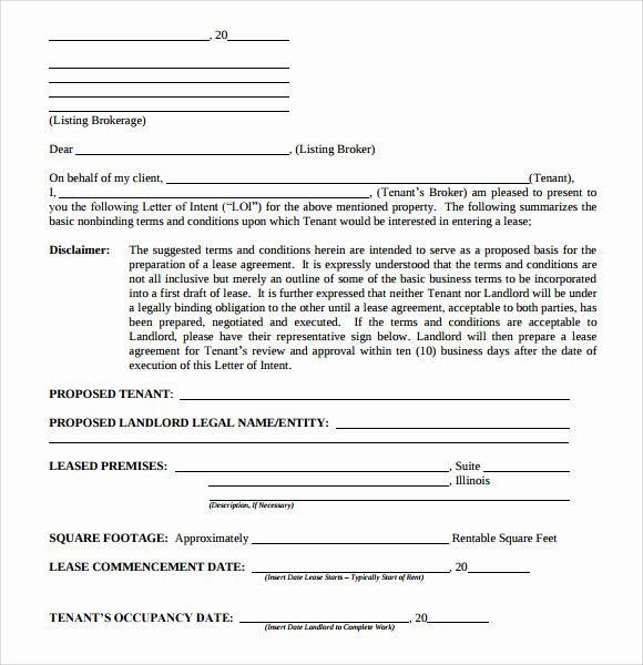 Letter Of Intent to Purchase Real Estate Template Lovely 10 Letter Of Intent Real Estate Templates to Download