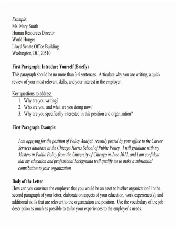 Letter Of Introduction format Fresh How to Write An Introduction Letter for A Job