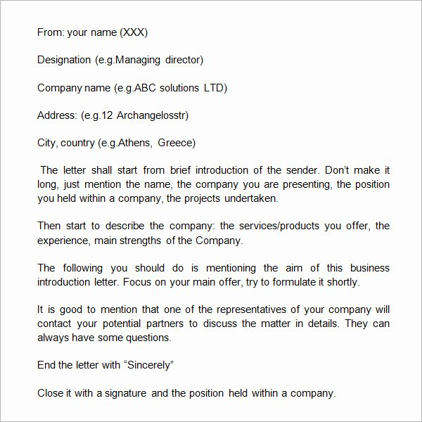 Letter Of Introduction format Luxury 21 Sample Business Introduction Letters Pdf Do9