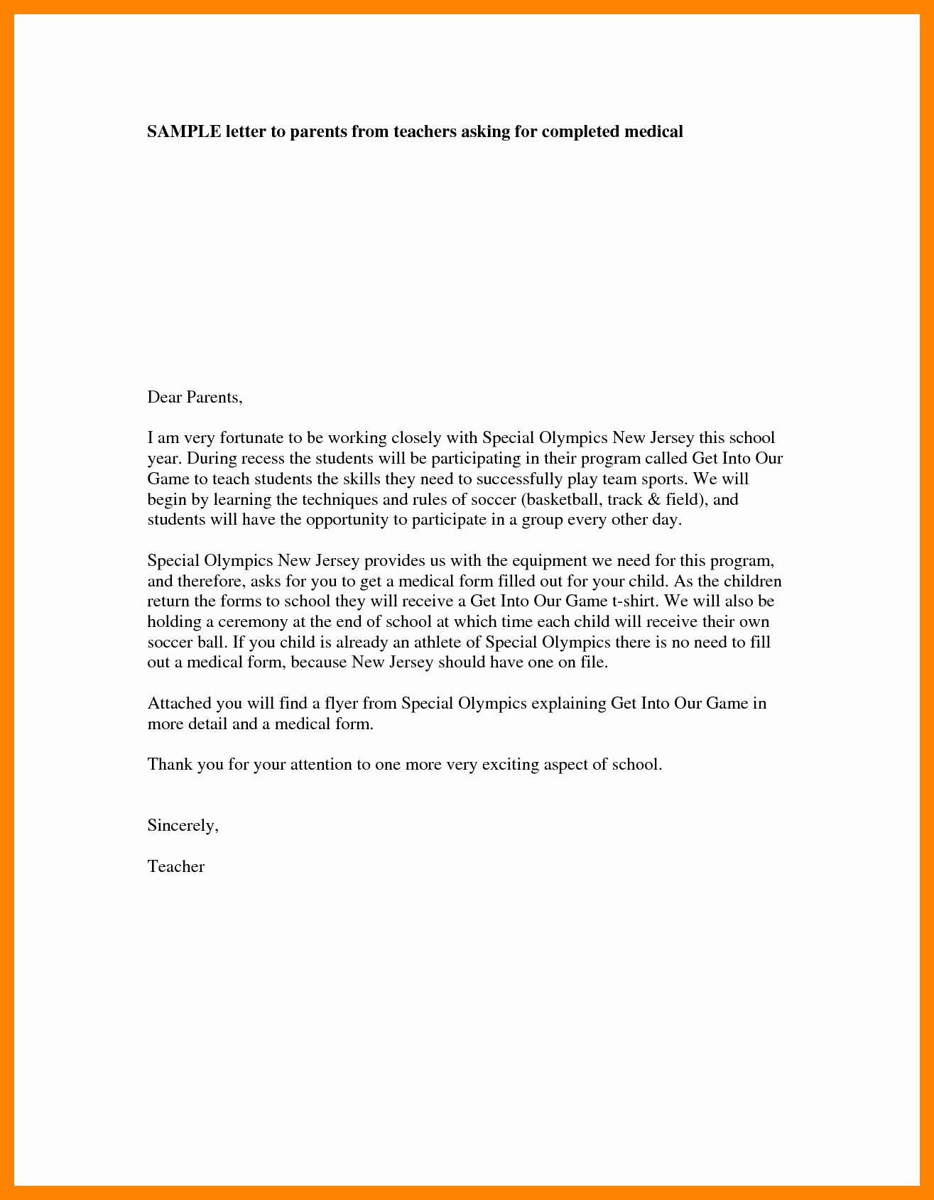 Letter Of Introduction format Unique 4 Teacher Introduction Letter to Parents Template