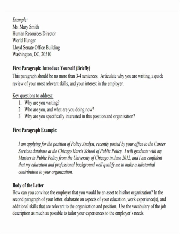 Letter Of Introduction Vs Cover Letter Beautiful 5 Employment Introduction Letter Samples and Templates