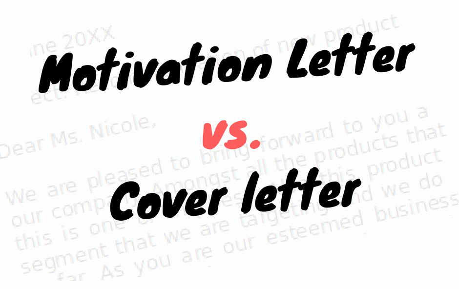 Letter Of Introduction Vs Cover Letter Inspirational What is A Motivation Letter
