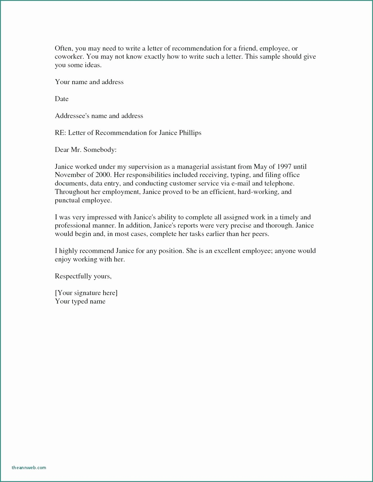 Letter Of Knowing someone for Immigration Inspirational Character Reference Letter for Employee Sample Personal