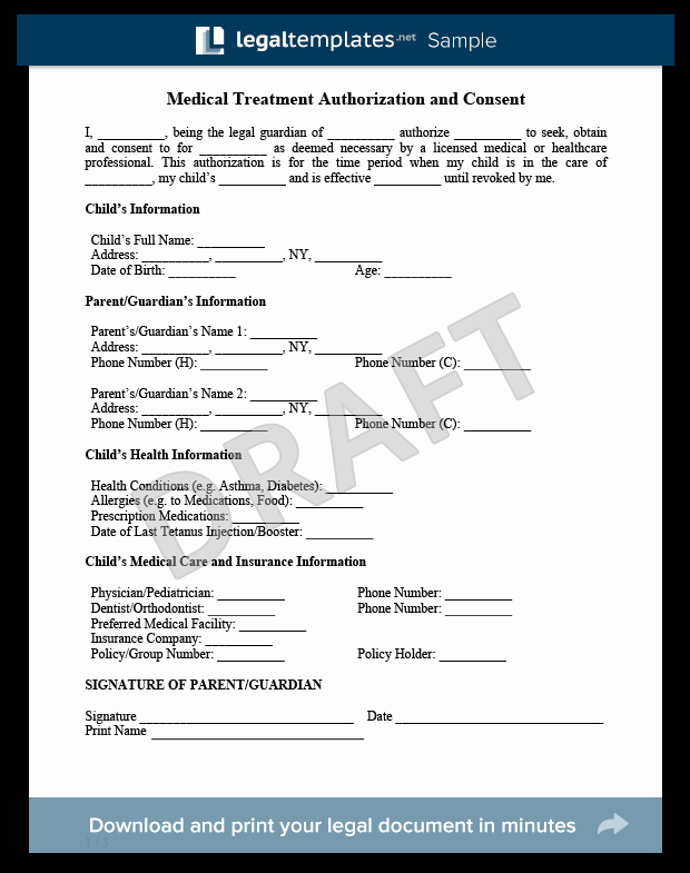 Letter Of Permission to Travel with Grandchildren Fresh Create A Child Medical Consent form In Minutes