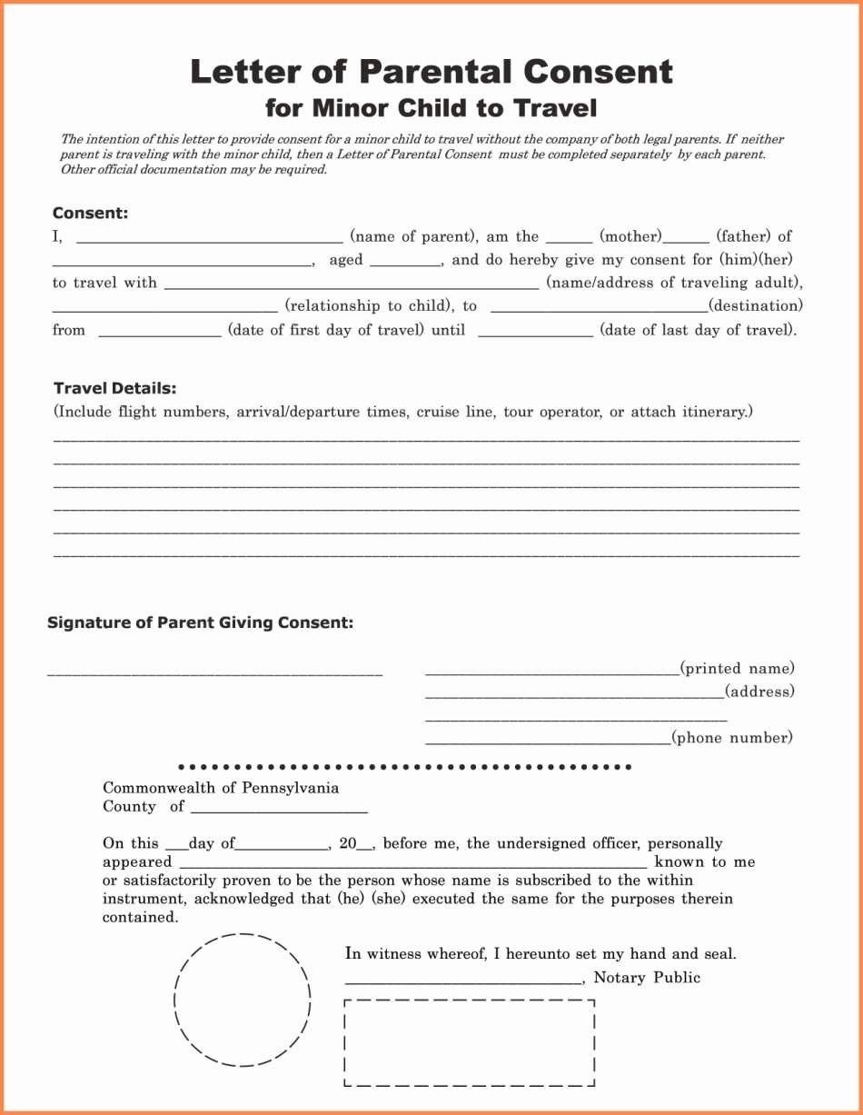 Letter Of Permission to Travel with Grandchildren Template Inspirational Child Travel Consent Letter Sample Uk