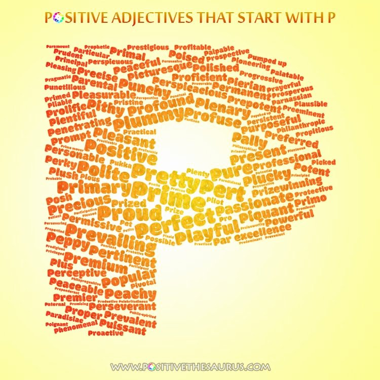 Letter Of Recommendation Adjectives Lovely Perfect List Of Positive Adjectives Starting with P