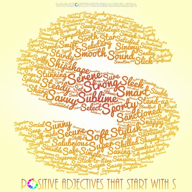 Letter Of Recommendation Adjectives Lovely Sturdy List Of Positive Adjectives Starting with S