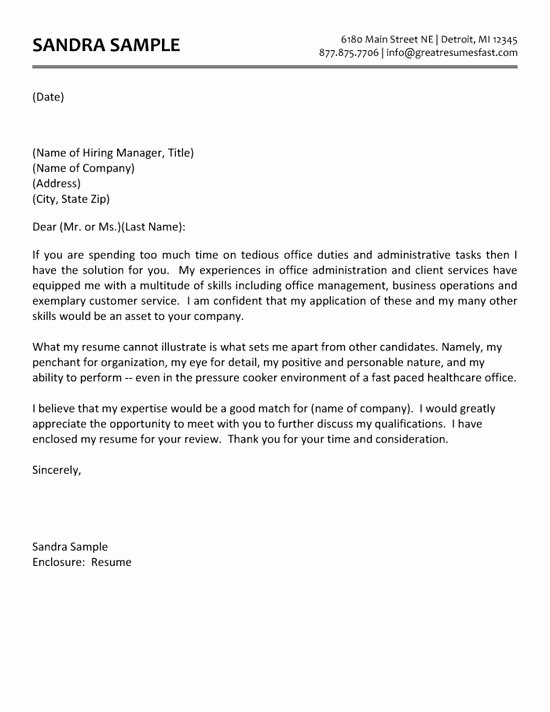 example of administrative assistant cover letter