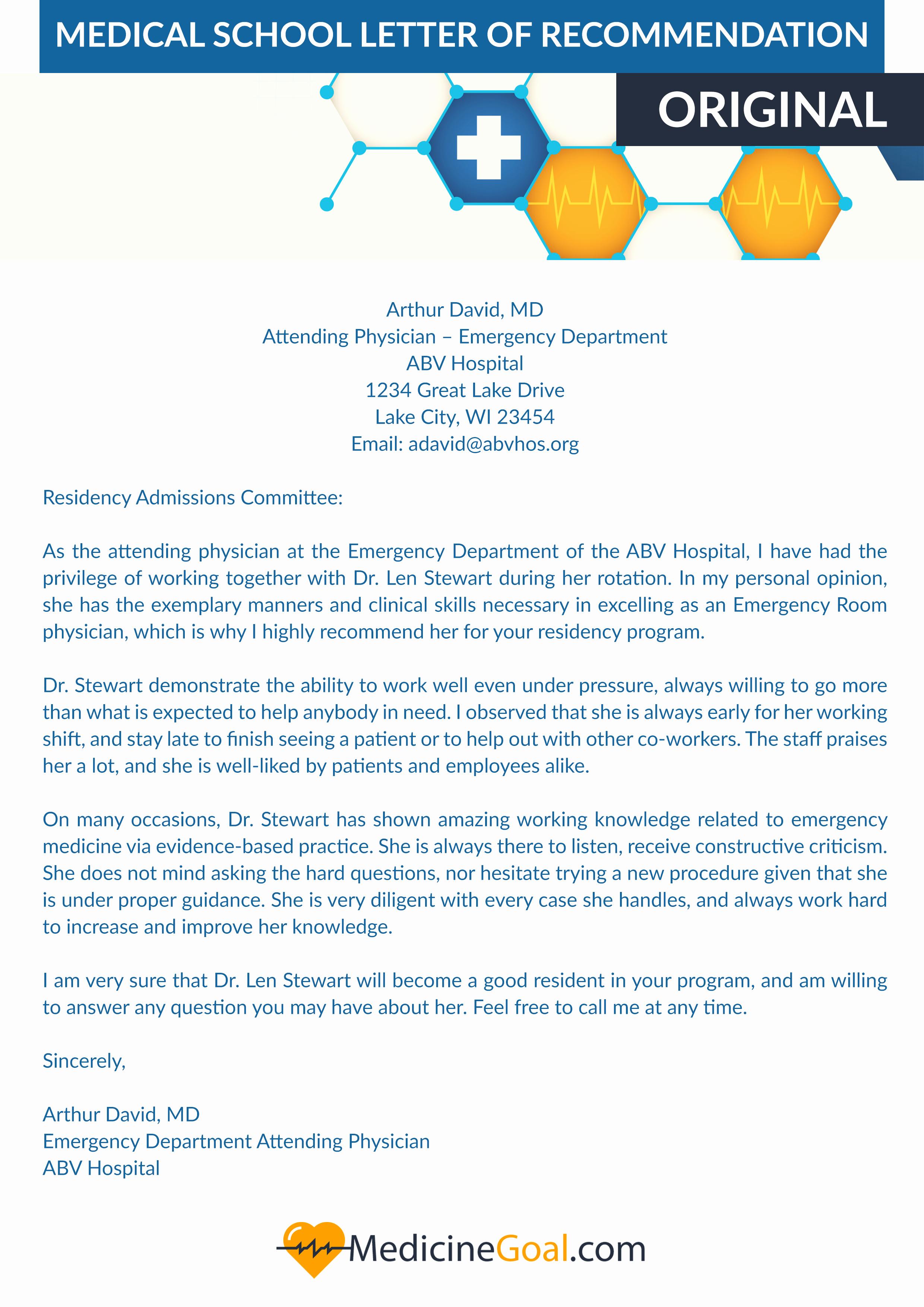 Letter Of Recommendation Amcas Lovely Effective Medical School Letter Of Re Mendation Help