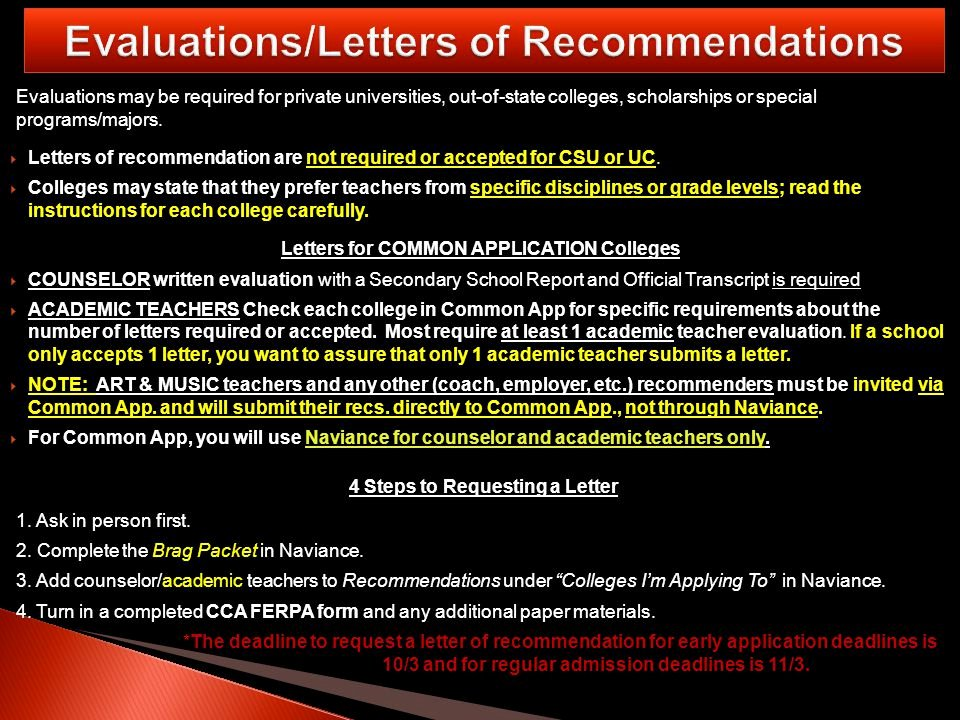 Letter Of Recommendation Common App Unique Canyon Crest Academy Th Grade Student Presentation Ppt