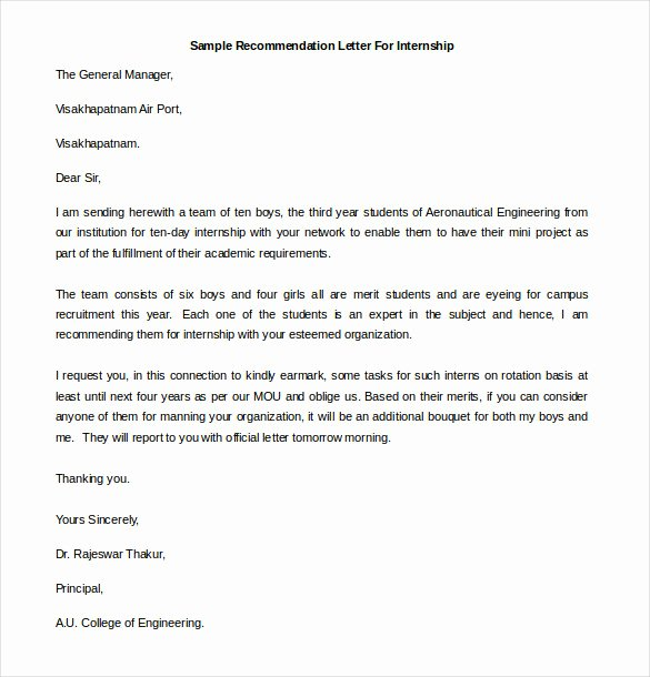 Letter Of Recommendation Definition New 25 Re Mendation Letter Templates Free Sample format