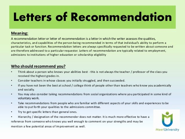 Letter Of Recommendation Definition Unique Importance Of sop and Lor to Get Admission In Abroad