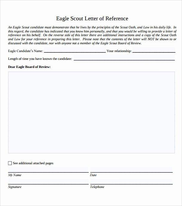 Letter Of Recommendation Eagle Scout Elegant 10 Eagle Scout Letter Of Re Mendation to Download for