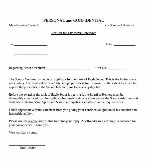 eagle scout letter of re mendation