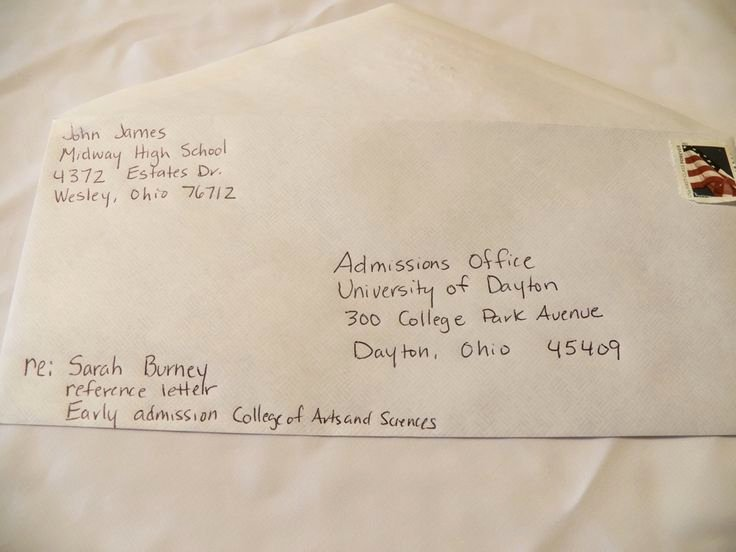Letter Of Recommendation Envelope Fresh How to Address Envelopes for College Re Mendation