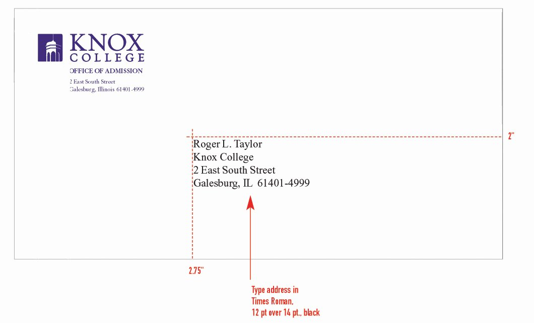 Letter Of Recommendation Envelope Fresh Stationery System Graphic Identities Standards Knox