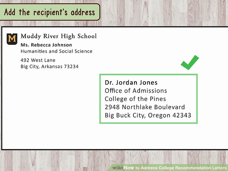Letter Of Recommendation Envelope Luxury How to Address College Re Mendation Letters 9 Steps