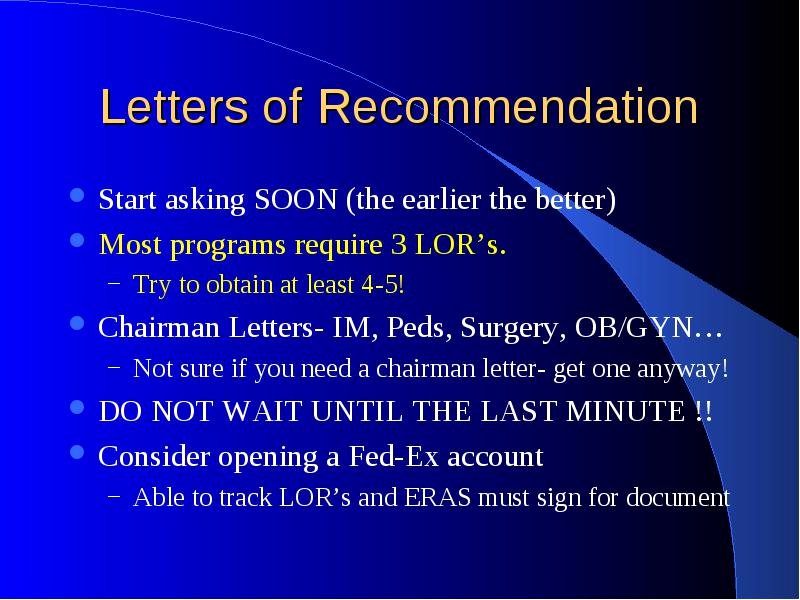 Letter Of Recommendation Eras Lovely What I Wished I Had Known Fourth Year Of Medical School
