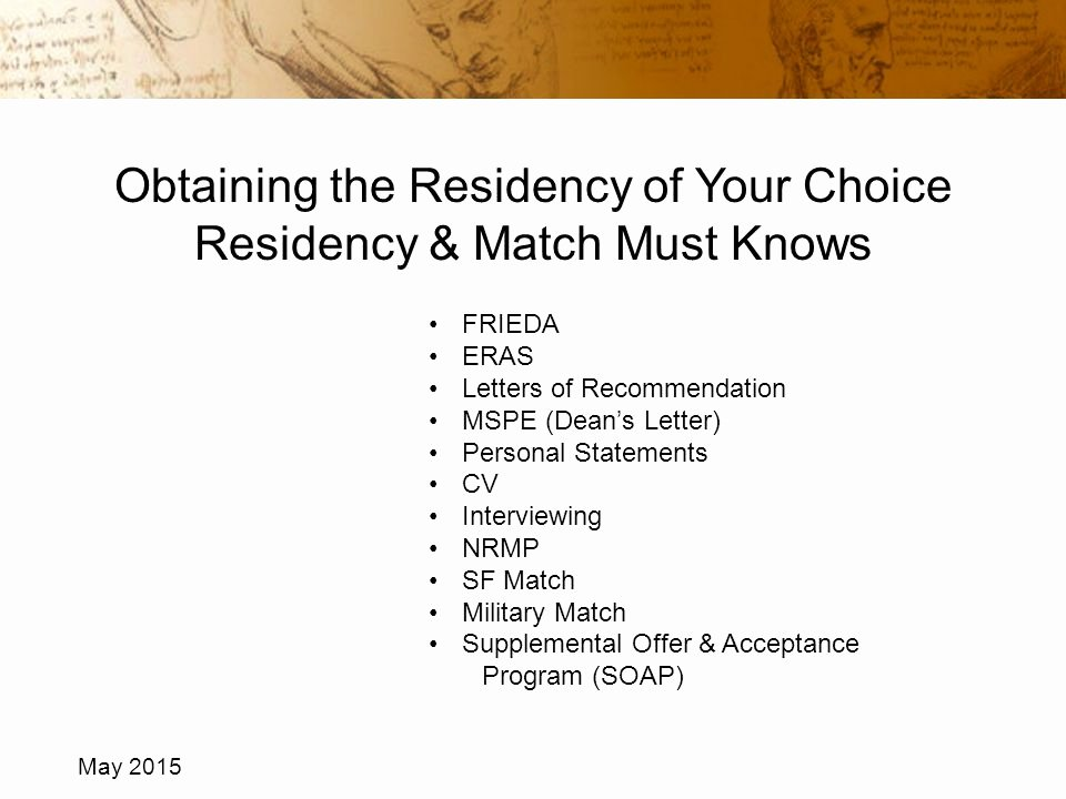 Letter Of Recommendation Eras New Obtaining the Residency Of Your Choice Residency & Match