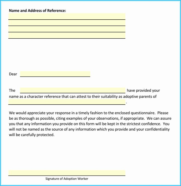Letter Of Recommendation for Adoption Elegant Adoption Reference Letter Sample Letters and Examples