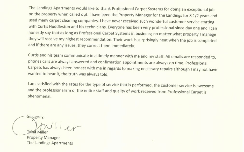 Letter Of Recommendation for Apartment Elegant Memphis Carpet Cleaning Apartment Letter Of Re Mendation