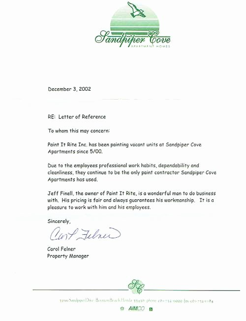 Letter Of Recommendation for Apartment Unique Paint It Rite Boynton Beach Painting Contractors