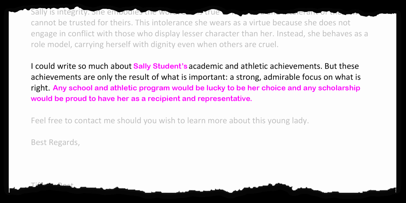 Letter Of Recommendation for athlete Fresh Tips for Writing A College Re Mendation Letter