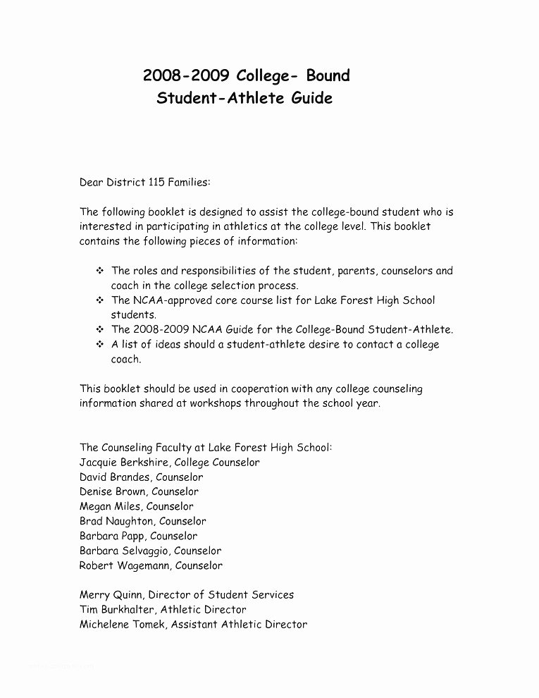 Letter Of Recommendation for athlete Lovely Sample Letters to College Golf Coaches Sample Letter From