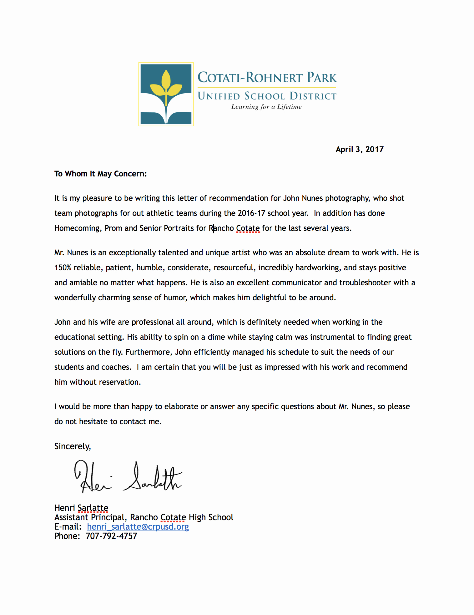 Letter Of Recommendation for athletes Awesome athletic Re Mendation Letter Kenindle fortzone