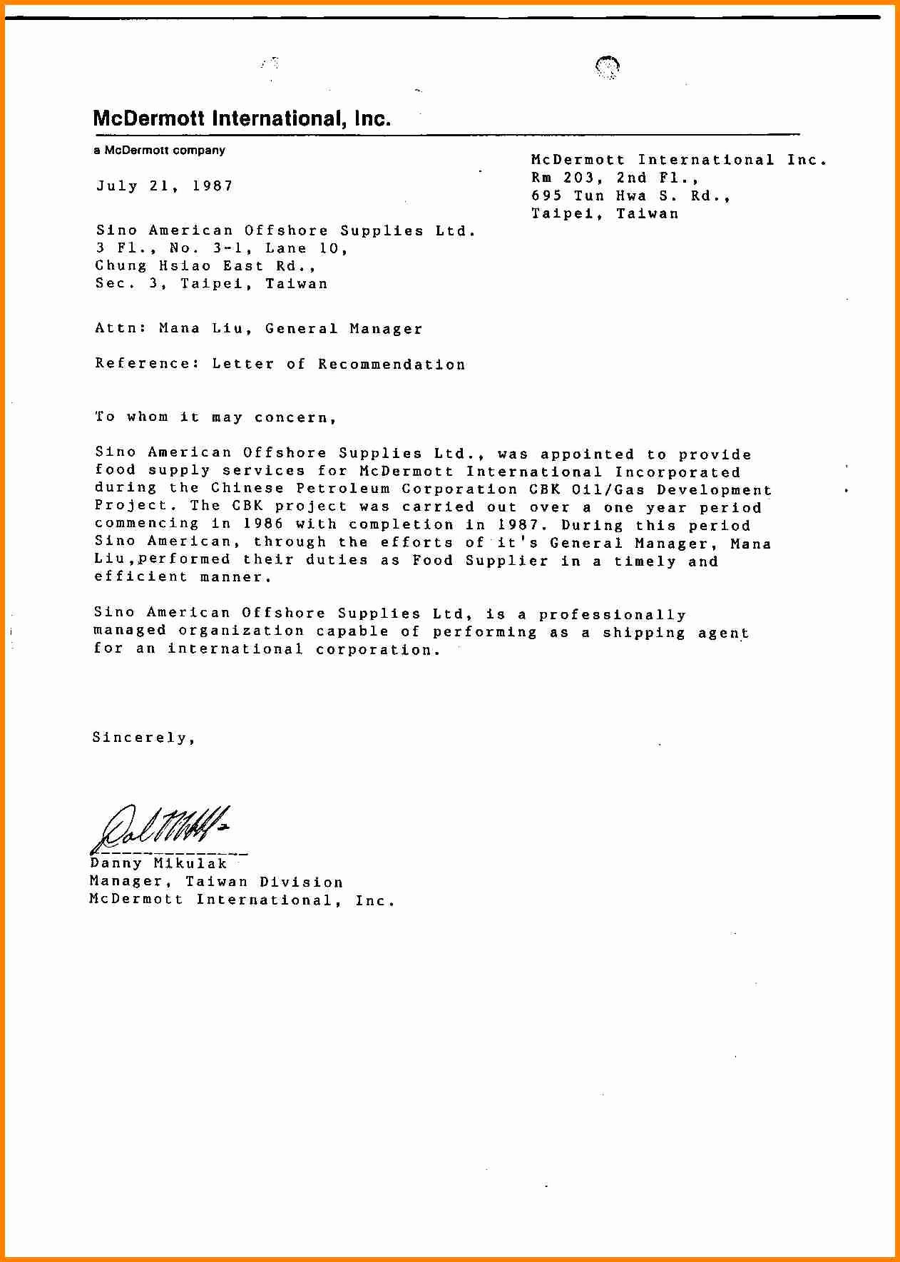 Letter Of Recommendation for athletes Fresh Sample Letter Re Mendation for A Student athlete