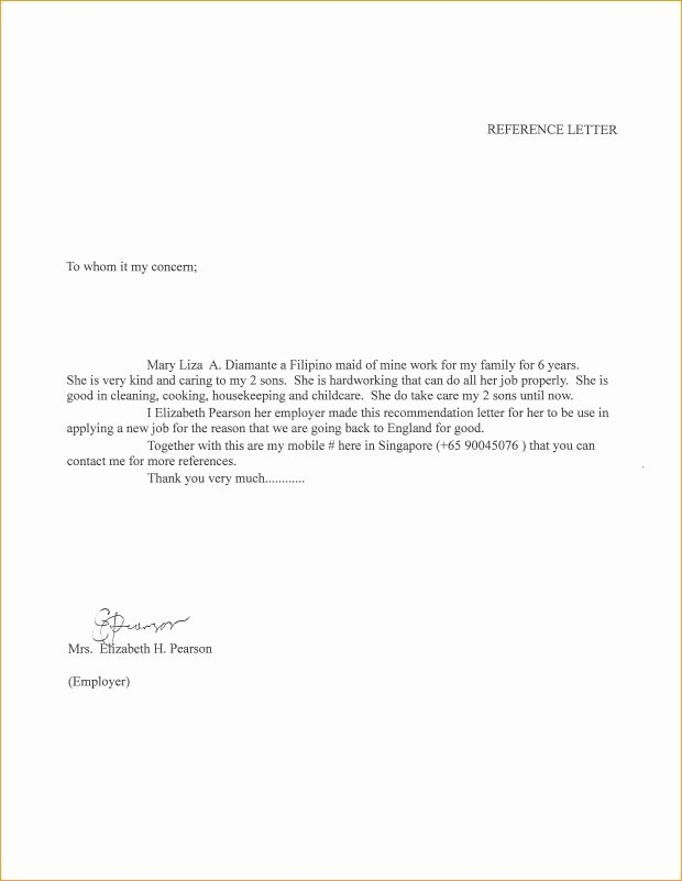 Letter Of Recommendation for Babysitter Fresh 14 Fresh Re Mendation Letter for Babysitter